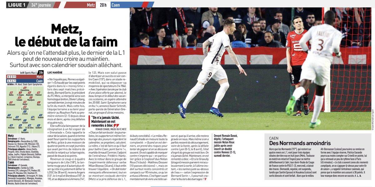 [34e journée de L1] FC Metz 1-1 SM Caen  DbQoZj9X4AAVQX7