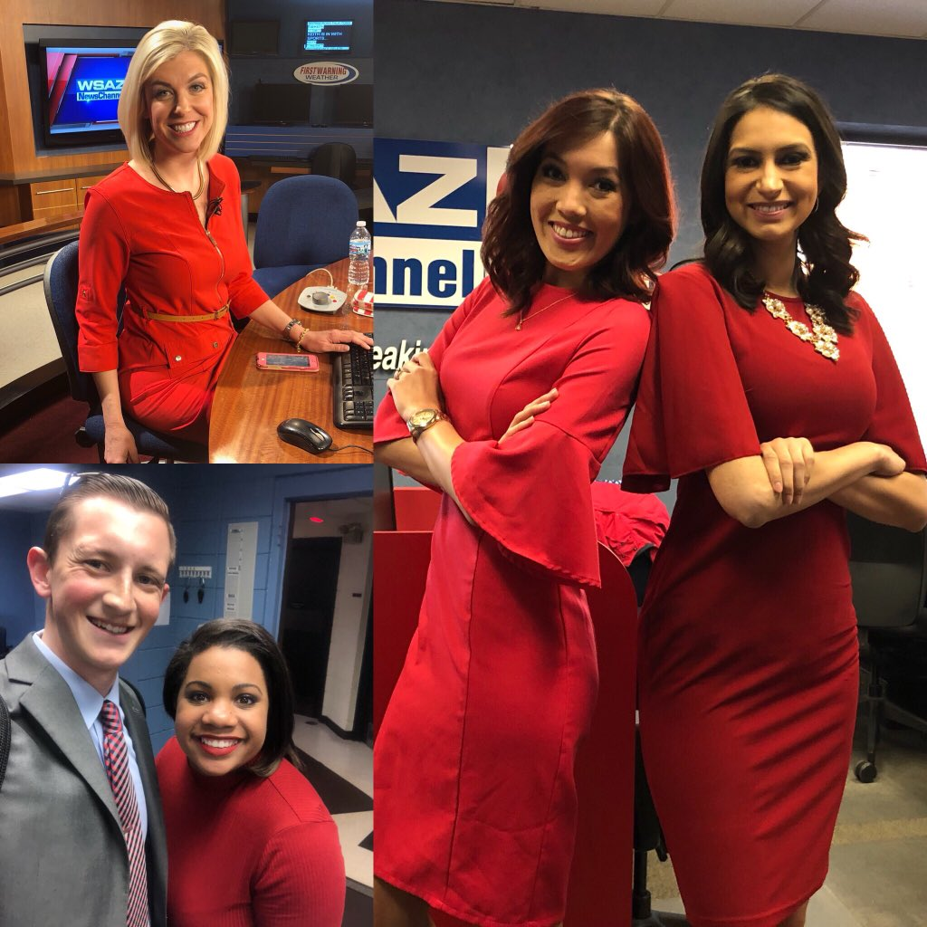 Chelsea Ambriz On Twitter When Half The News Team Is Feeling Powerful On This Fabulous Friday Powercolor Coordinating Rockingred