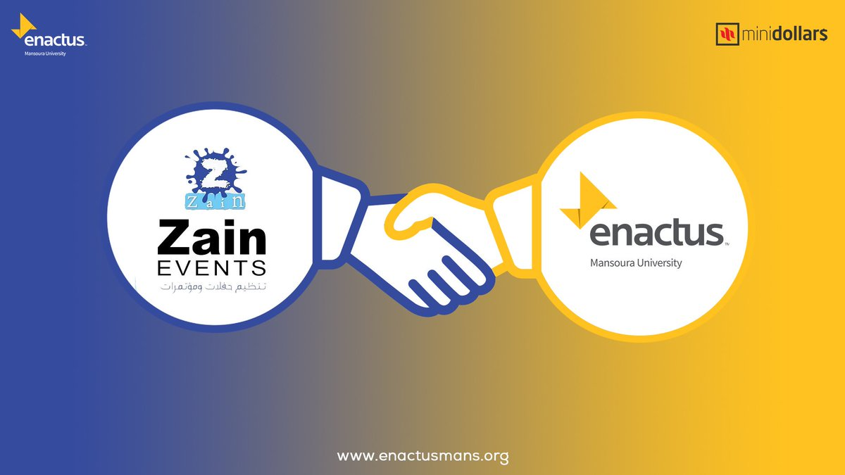 We are happy to announce that the magnificent ZAIN events planner is now one of our sponsors in minidollars final competition event.   http:// Fb.com/zain.events.z  &nbsp;    #enactus #enactusmans #business #entrepreneur #MiniDollars #ClassOf2018<br>http://pic.twitter.com/N9R5e1AlHx