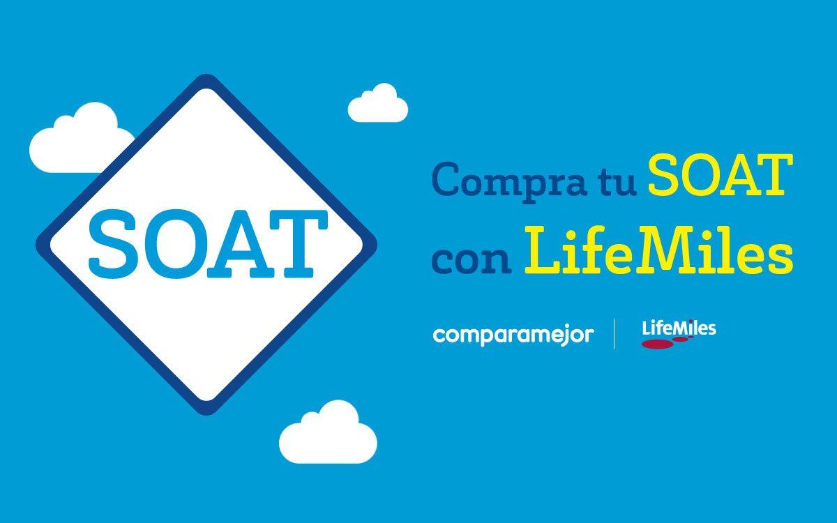 ¿No sabes qué hacer con tus @LifeMiles ?  Compra el #SOAT de tu vehículo 🚙 🛵 a  través de ComparaMejor y págalo con LifeMiles 😎 Ingresa ahora mismo ➡️ https://t.co/oKIhQU0Vny https://t.co/4GHGLyAkoJ