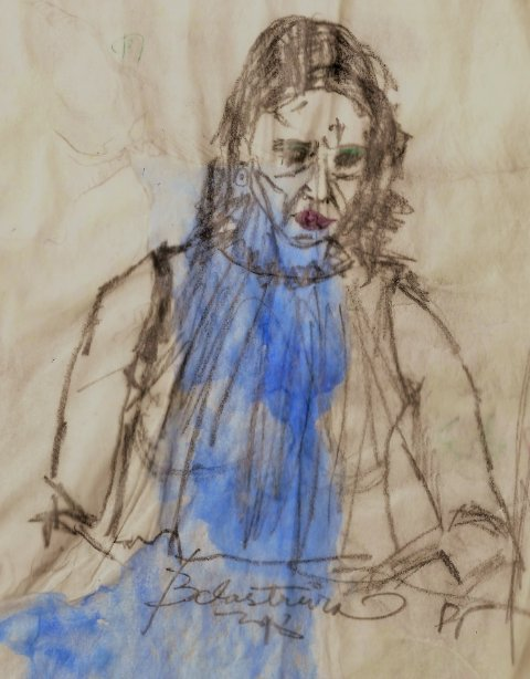 ST32214 2018 WB #drawing #model #ink #paper #charcoal #watercolorpainting #woman #blue #BlueWave2018 #abstract #expressionism #FacesOfSpring #faces #rio #castelos #areia <br>http://pic.twitter.com/s3IzU7H3cP
