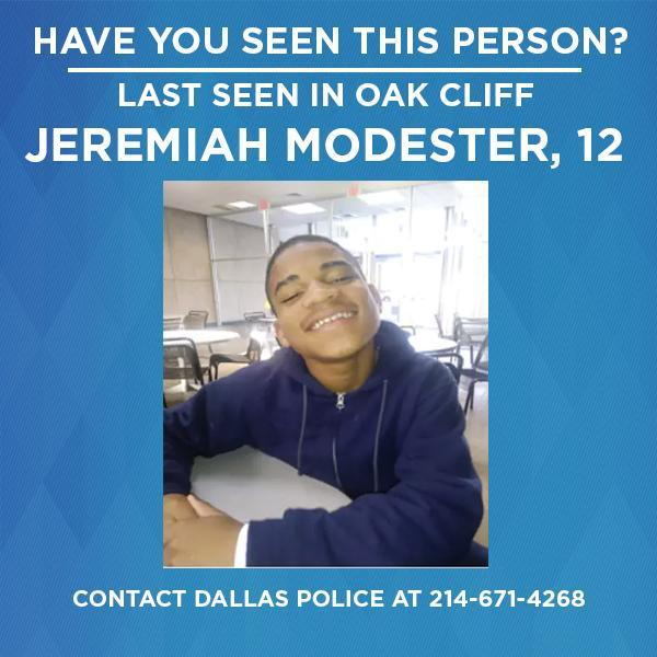 Dallas police are asking for the public's help in locating a missing 12-year-old boy. https://t.co/ZI5NViGSRT