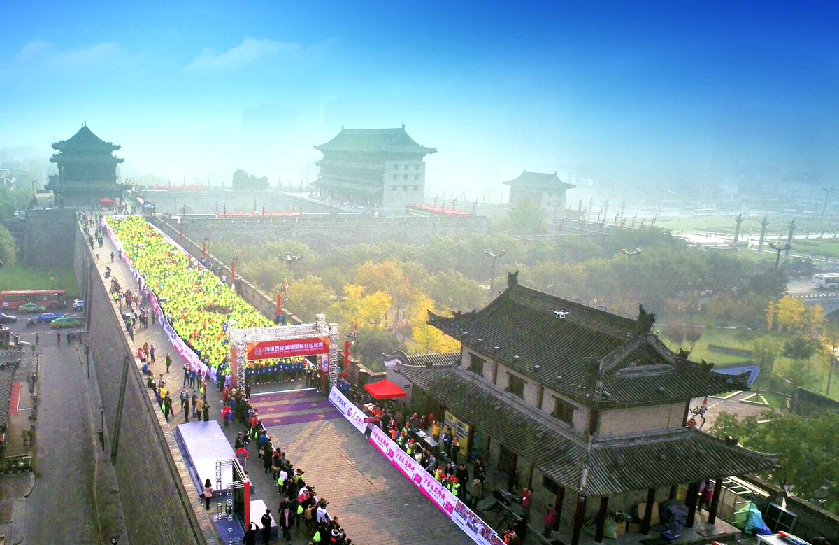 Xi'an City Wall International Marathon is held from 8:00 a.m. to 11:00 a.m. Apr 21 (Beijing time). Watch live: https://t.co/9CTpZ3aeVT