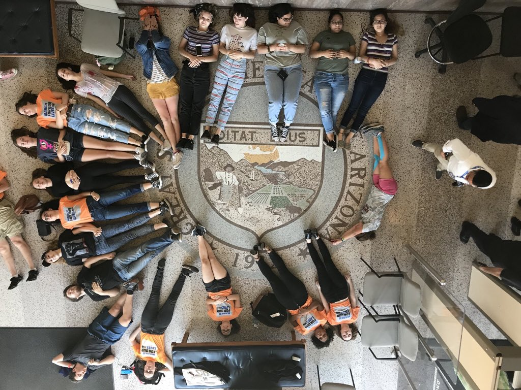 powerful. students from across the state are occupying the capitol until @dougducey takes real action to keep us safe.   #NationalWalkoutDay <br>http://pic.twitter.com/9UnLKtJ1am