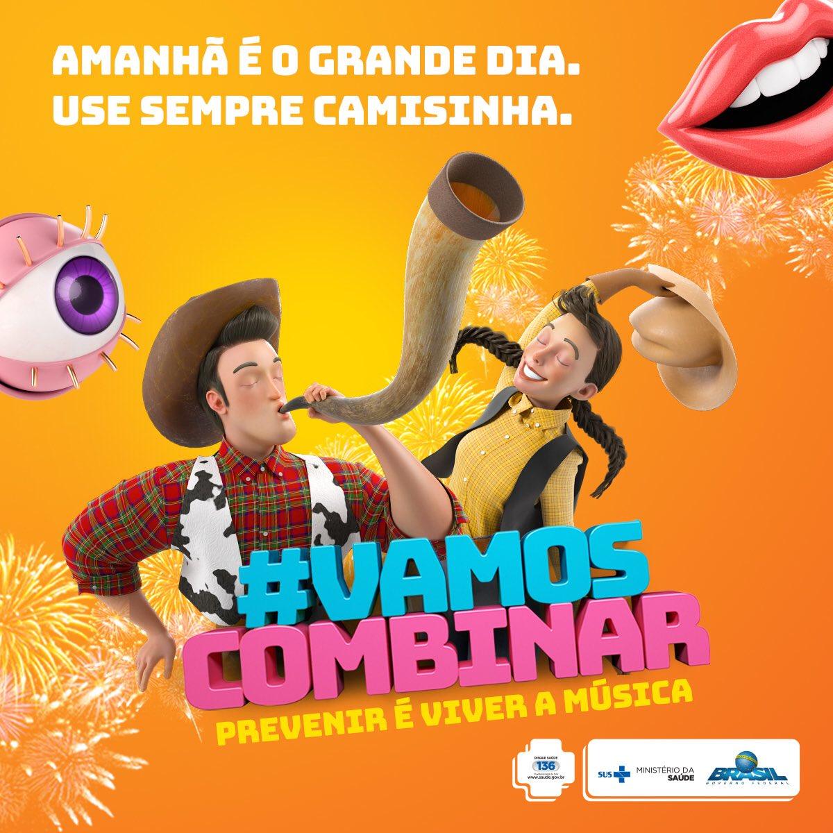 Amanhã começa a maior festa de peão de Ribeirão. Não se esqueça da proteção. #VamosCombinar? #UseCamisinha #RRM2018