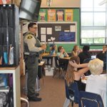 Deputies spent some time reading with Roosevelt Elementary School students today, in an event coordinated by @Vow4Mal, an organization which focuses on educating our youth on the prevention and elimination of driving under the influence of drugs or alcohol. ⭐️ #sbsheriff