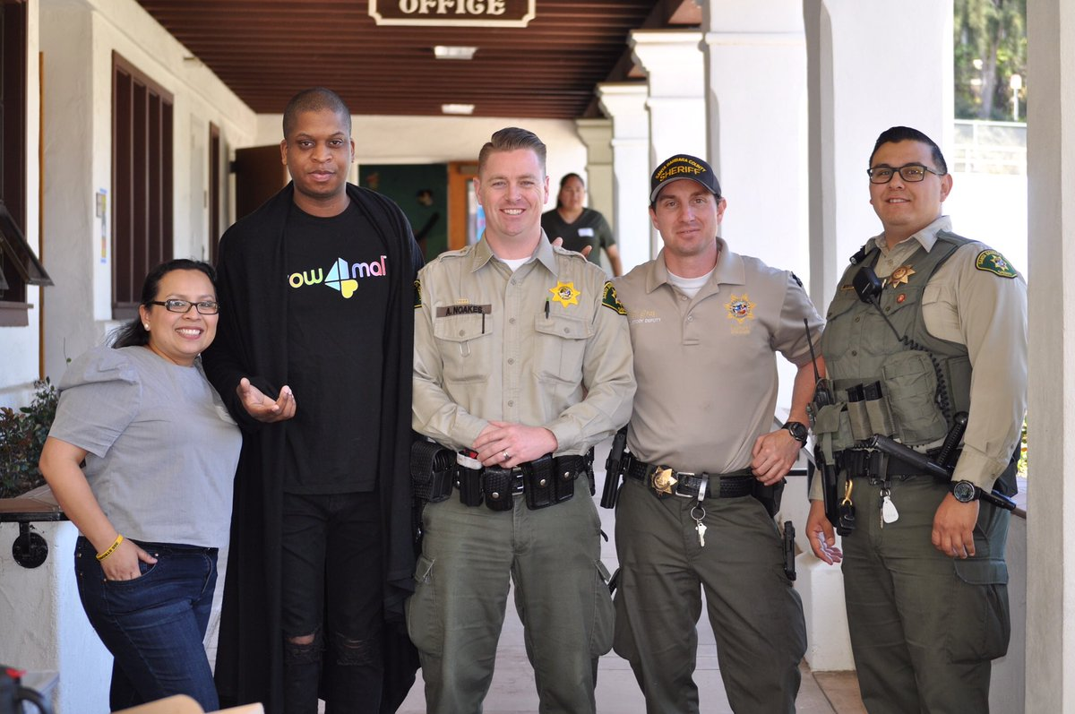 Deputies spent some time reading with Roosevelt Elementary School students  today, in an event coordinated