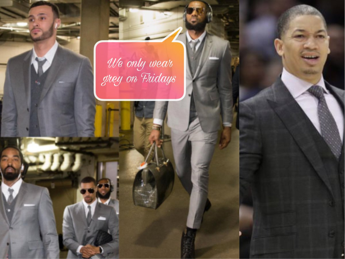 Did @TyronnLue get a suit tho? #lebron #...
