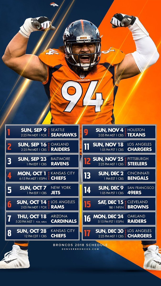 Broncos Football Schedule 2019 Denver Broncos on Twitter: