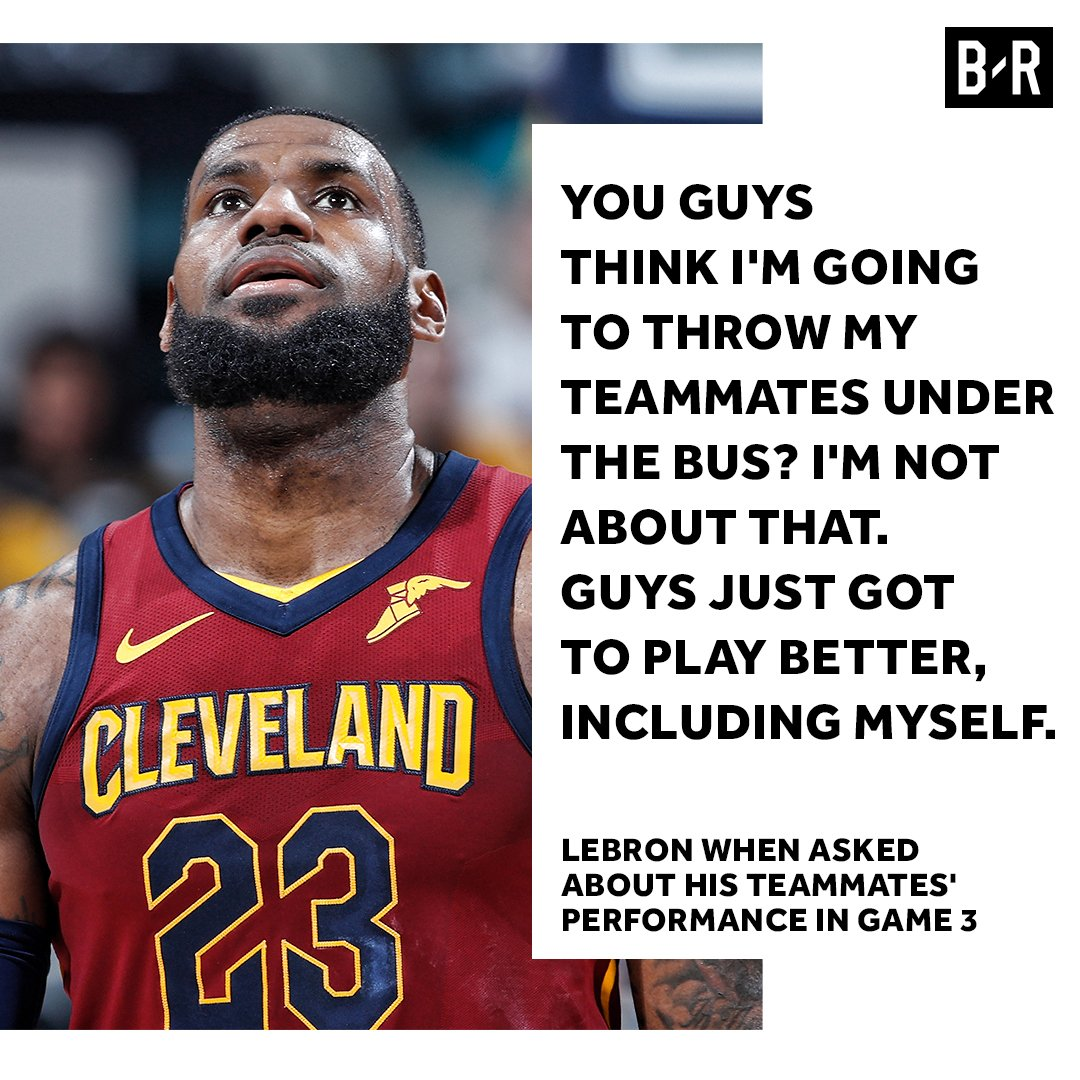 LeBron isnt pointing fingers.