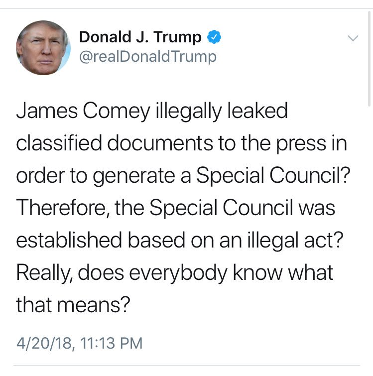 """POTUS arguing the Special """"Council"""" was based on illegal act"""
