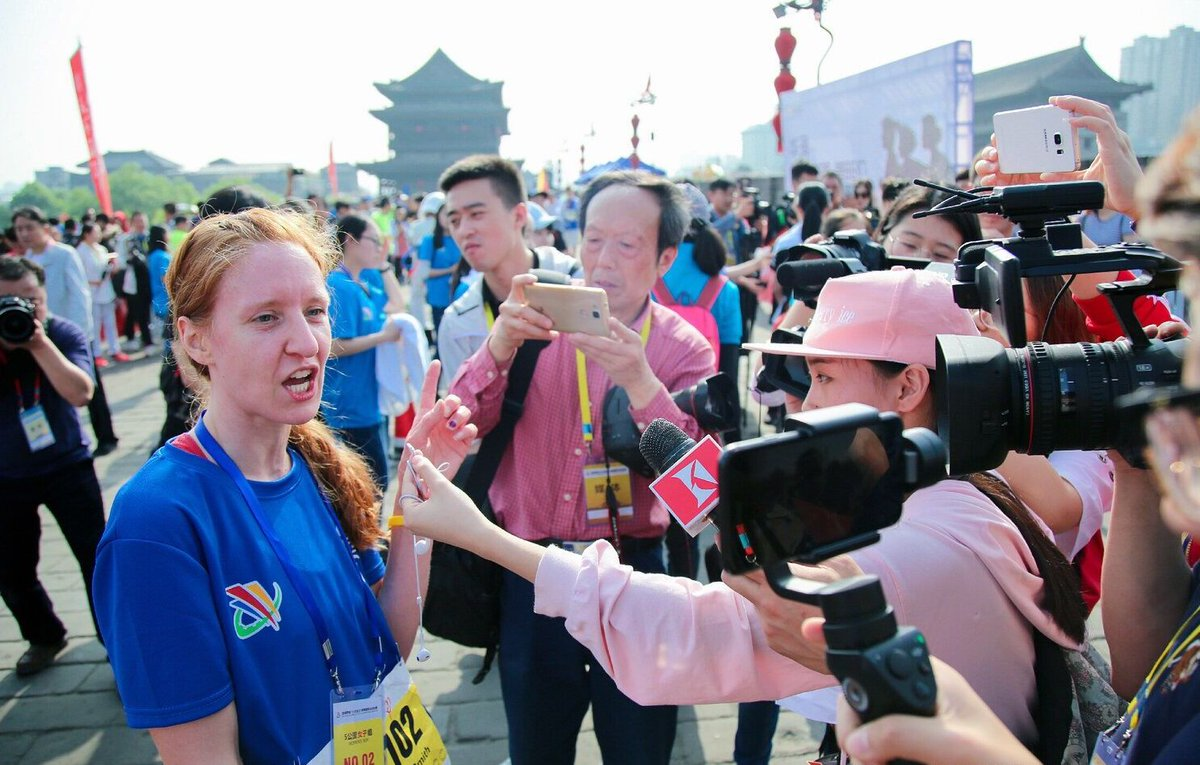 #UPDATE The Xi'an City Wall #Marathon on Sat saw an end to its annual festival, with over 300 international runners running and representing their countries to promote closer ties. https://t.co/LxuOlagb74