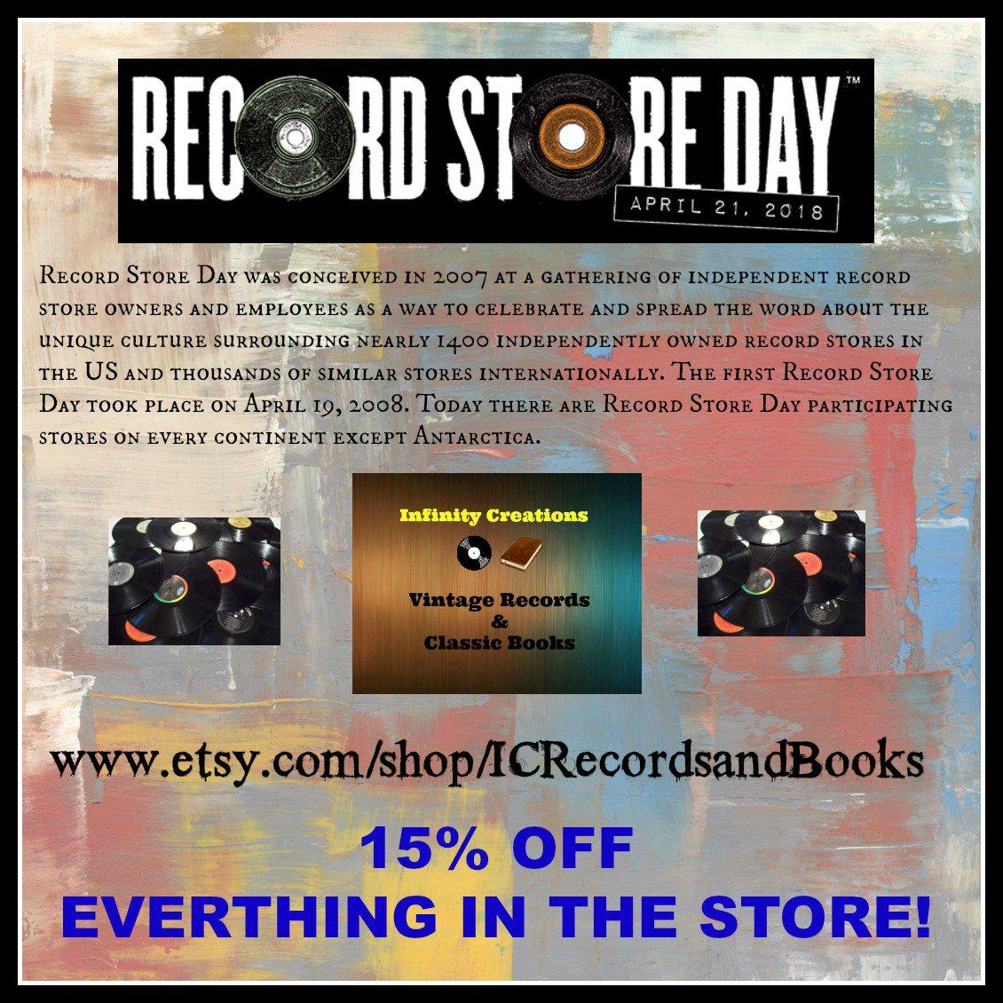 April 21st - Record Store Day!  https://www. etsy.com/shop/ICRecords andBooks &nbsp; …   #RecordStoreDay #recordstoreday2018 #records #recordstore #VintageRecords #ClassicVinyl #vinylrecords #vinylcollection #45rpm #33LP #Music #CountryMusic #RockandRoll #Jazz #Soundtracks #Sale #RandB #PopMusic #EasyListening<br>http://pic.twitter.com/6OvI7F3eMF