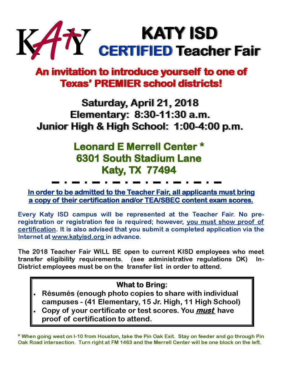 Katy Isd On Twitter Today Is The Day Join Us For The Katy Isd