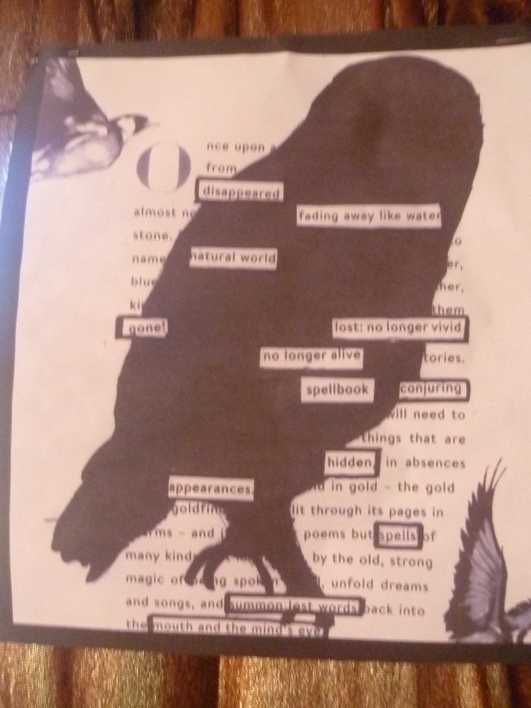 robert macfarlane on twitter these are works of art black out poetry taken to a new level please send my congratulations to all of the children