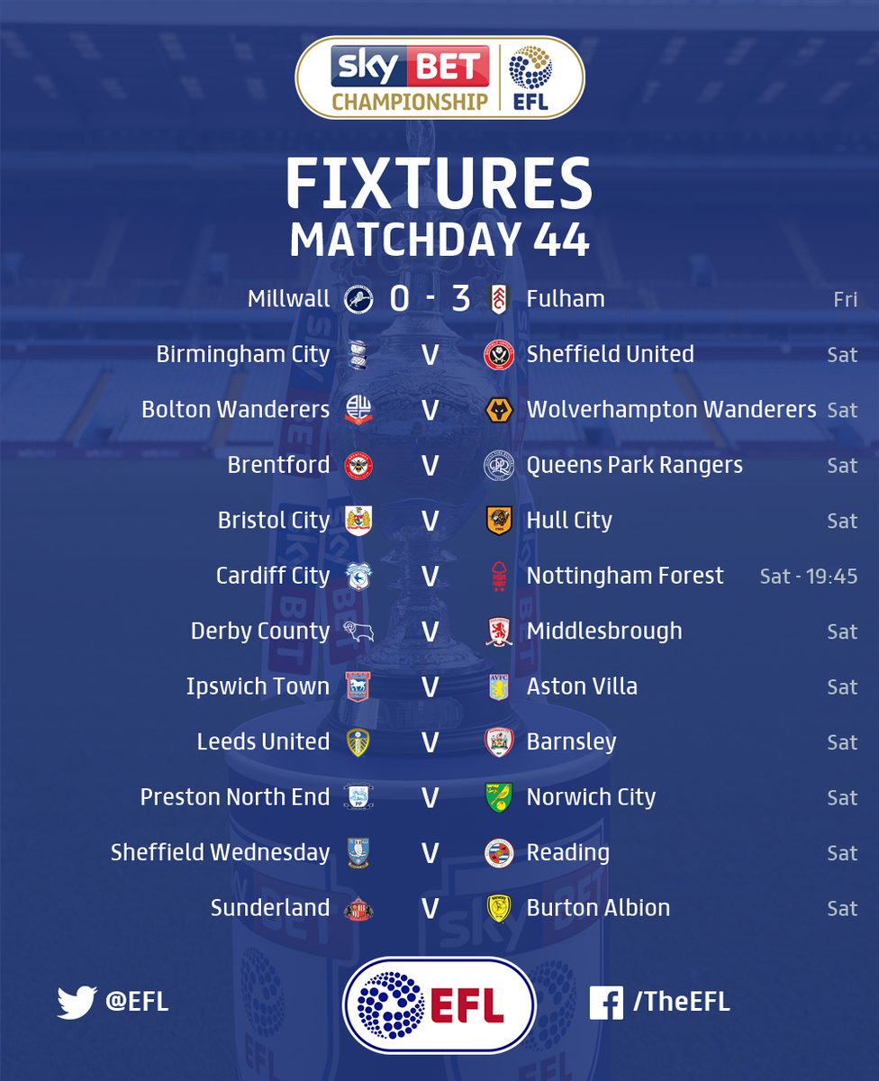 MATCHDAY! 🎉  Which #EFL fixture are you...