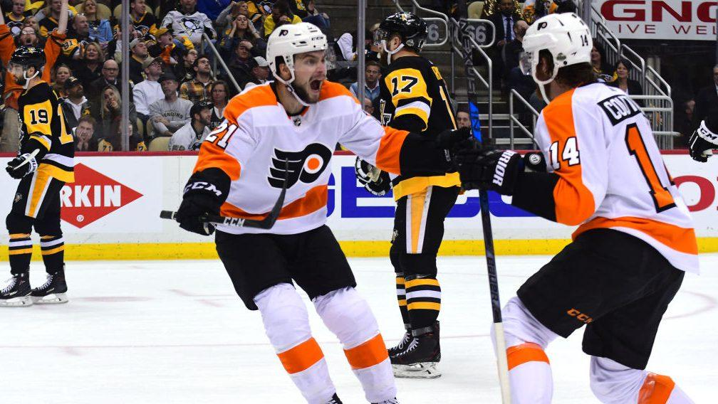 Sean Couturier pulls a Chris Pronger as...
