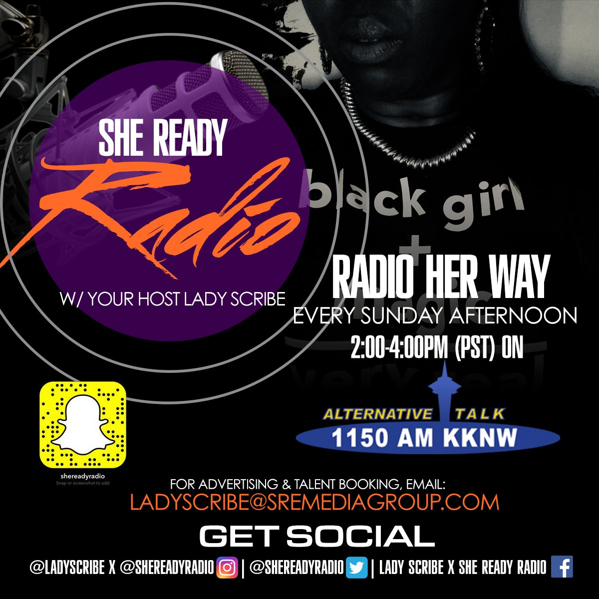 #Indie #Artists GET FEATURED ON @SheReadyRadio !!! On-Air/In-Studio Interviews for $50 LIVE on 1150 AM/KKNW E: shereadyradio@gmail.com #Music #Art #Film #Fashion #Entertainment #ThisIsRnB #ThisIs50 #XXL #AHH #BET #HipHopAwards #A3C #NewMusic #RnB #HipHop #Branding #Visibility <br>http://pic.twitter.com/qcvW9nUEnZ