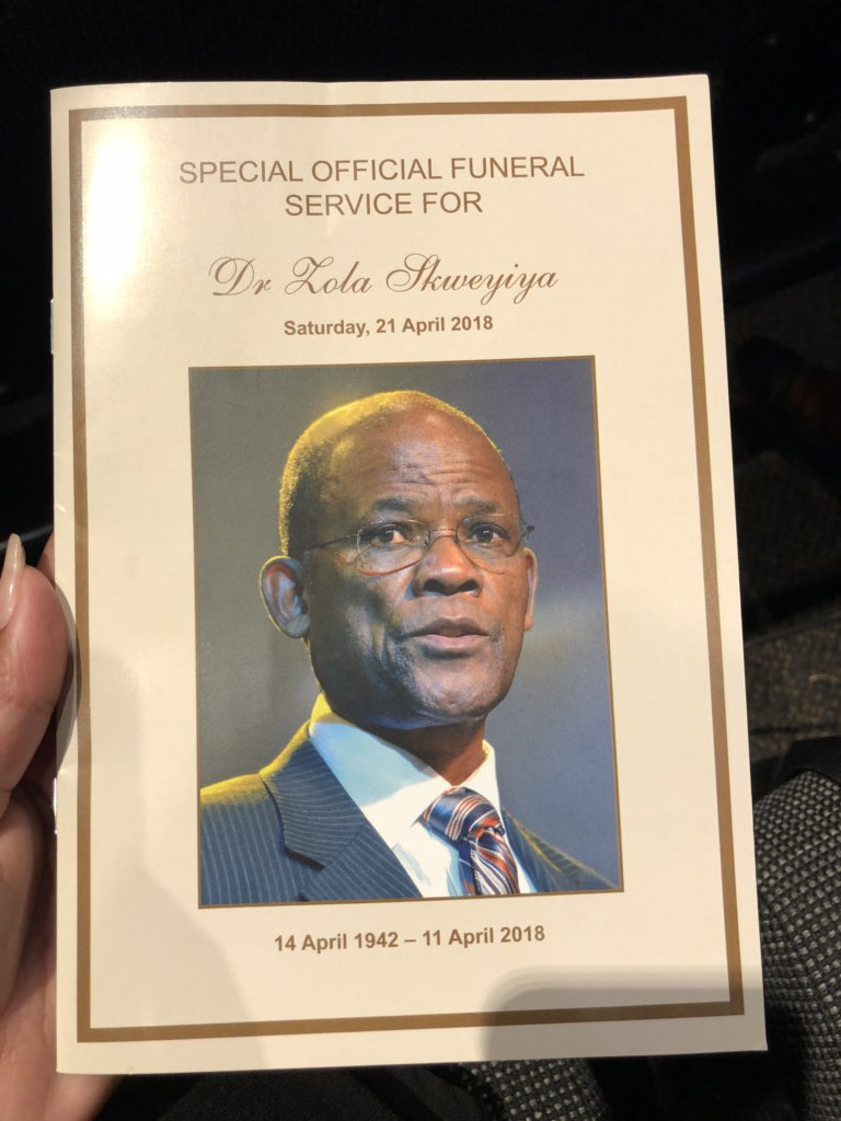 #ZolaSkweyiyaFuneral here is the officia...