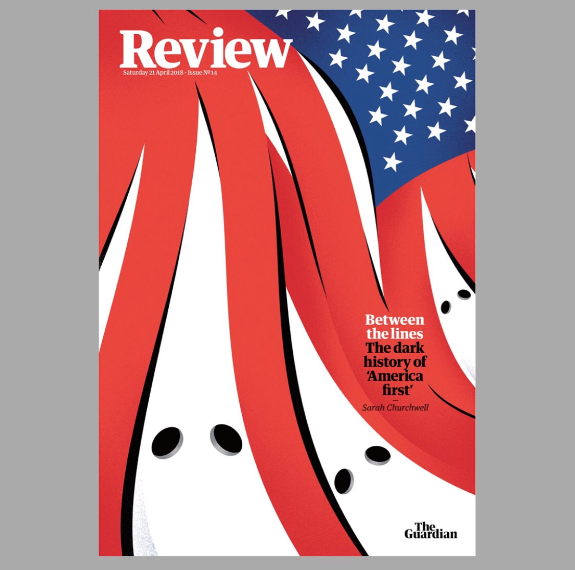 Today's @guardian review cover and inside spread #usa #us #politics #illustration #design #typography #magazine #covers<br>http://pic.twitter.com/pIEjHpOANC