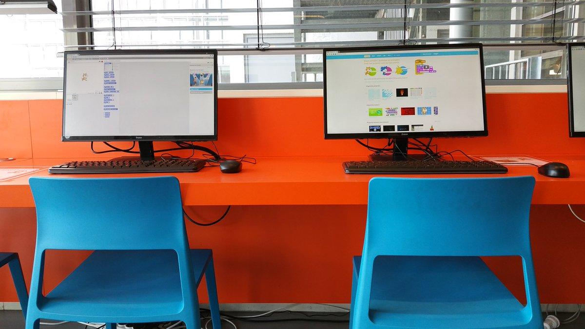 test Twitter Media - Met #SCRATCH leren je kinderen op een eenvoudige, leuke manier programmeren en probleemoplossend denken. Het programma is  nu ook op de computers van de jeugdafdeling @bieb040 geïnstalleerd. Kom en probeer het uit. Hulp nodig? Vraag naar de handleiding bij de balie Regelen! https://t.co/Xi7kNfjKww