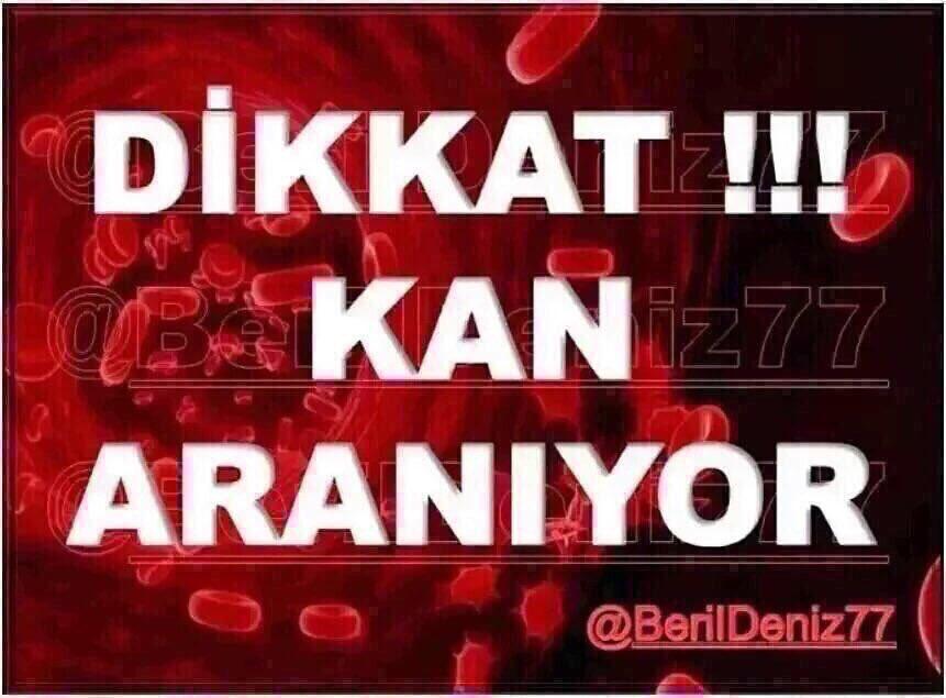 ÇOK ACİL ‼️ #İstanbul Çapa Bölge Kan Mer...
