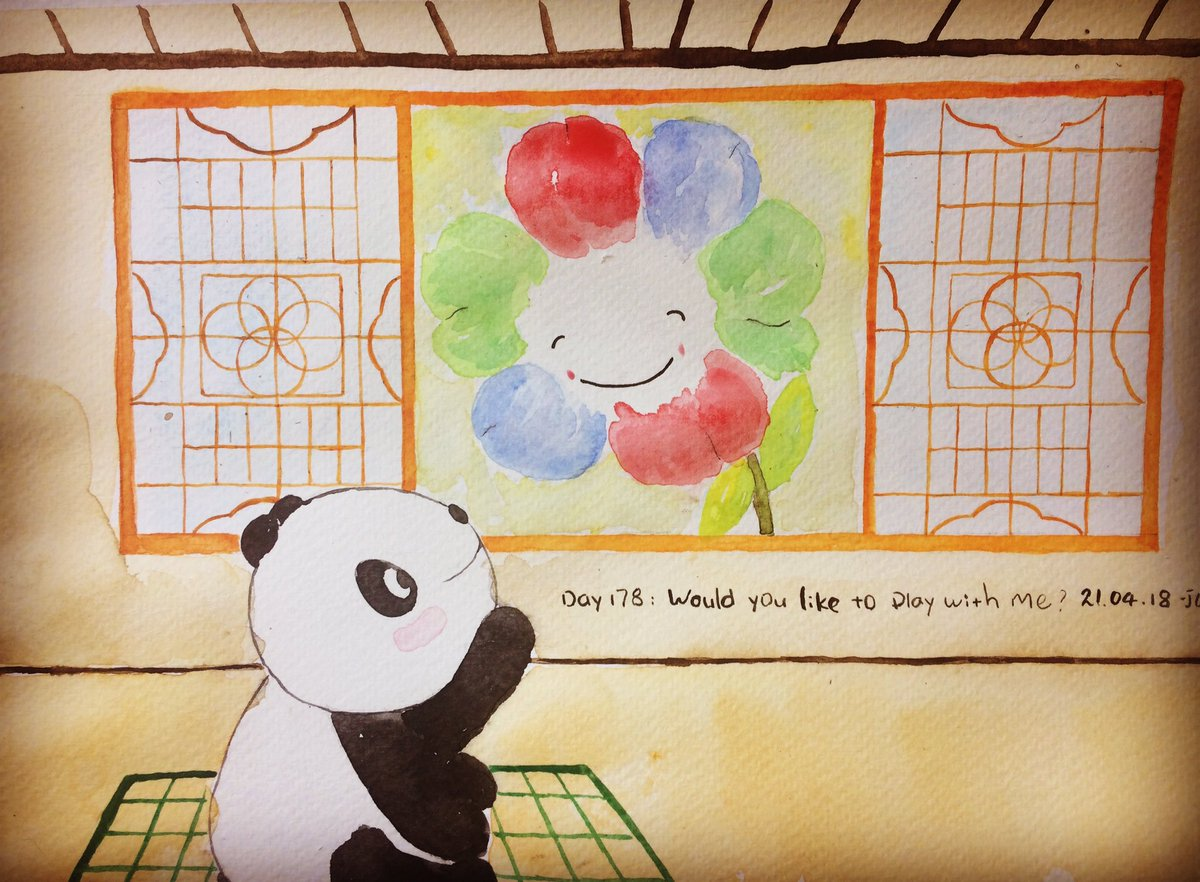 Day178: Would you like to play with me? #panda #childrensbooks #china #flowers #play #friendship #illustration<br>http://pic.twitter.com/HjJelOdaao