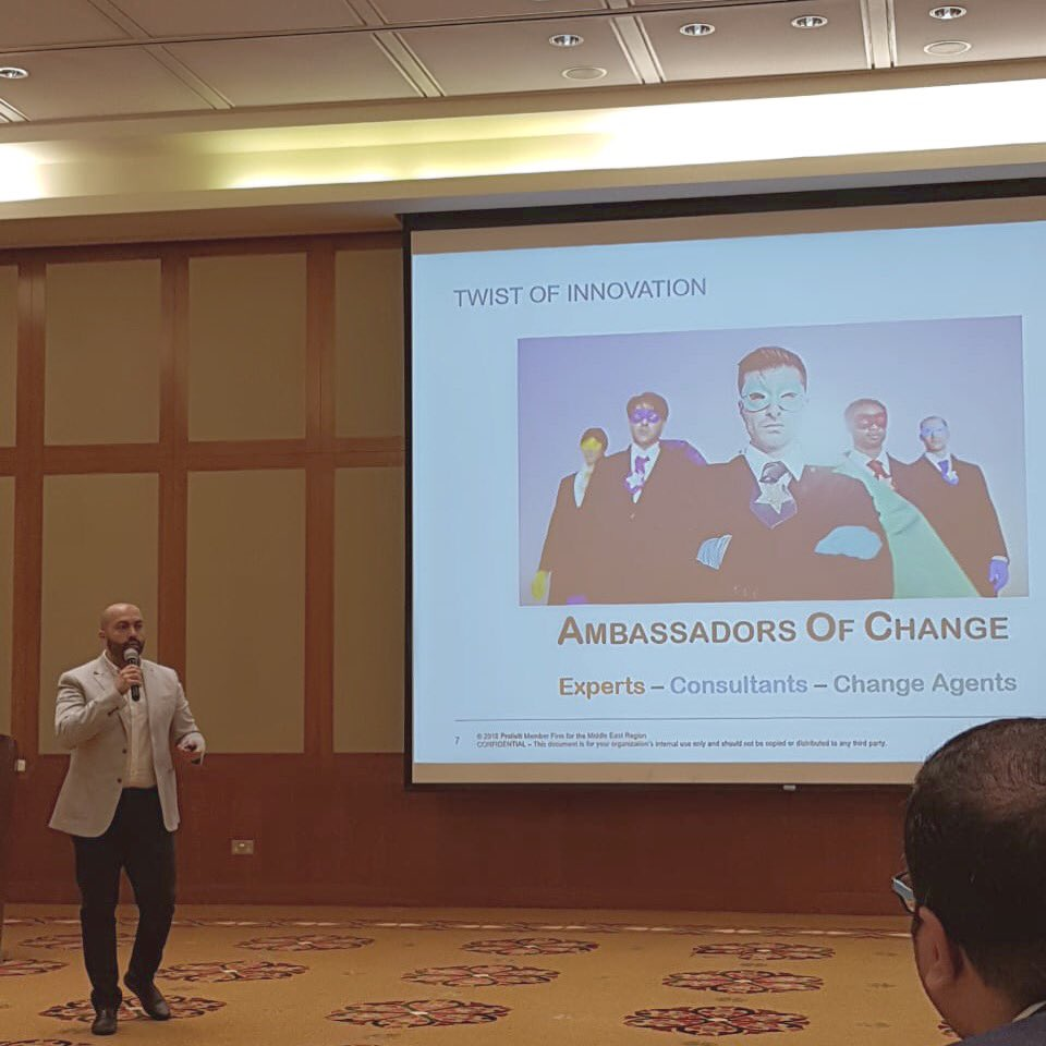 Proud: We are all about bringing positive change in the workplace. @Raedalis delivered a compelling presentation on the importance of harnessing our emotional intelligence. #consulting #success #oman #middleeast #change #changemakers #protivitioman #protiviti #changemanagement<br>http://pic.twitter.com/9ATMOo3MnL