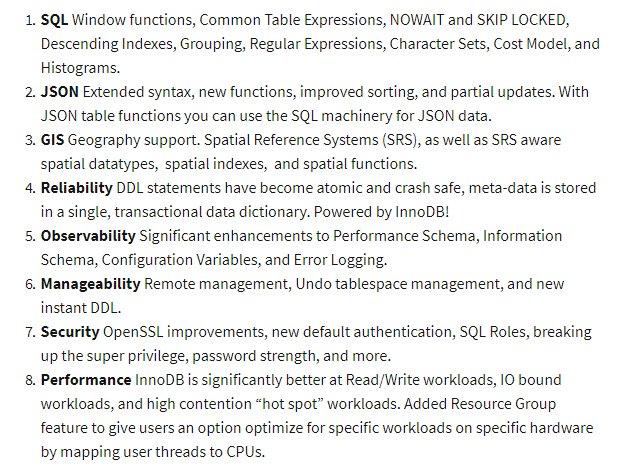 Here's What New in MySQL 8.0   https://t.co/bdKZJ30EhT