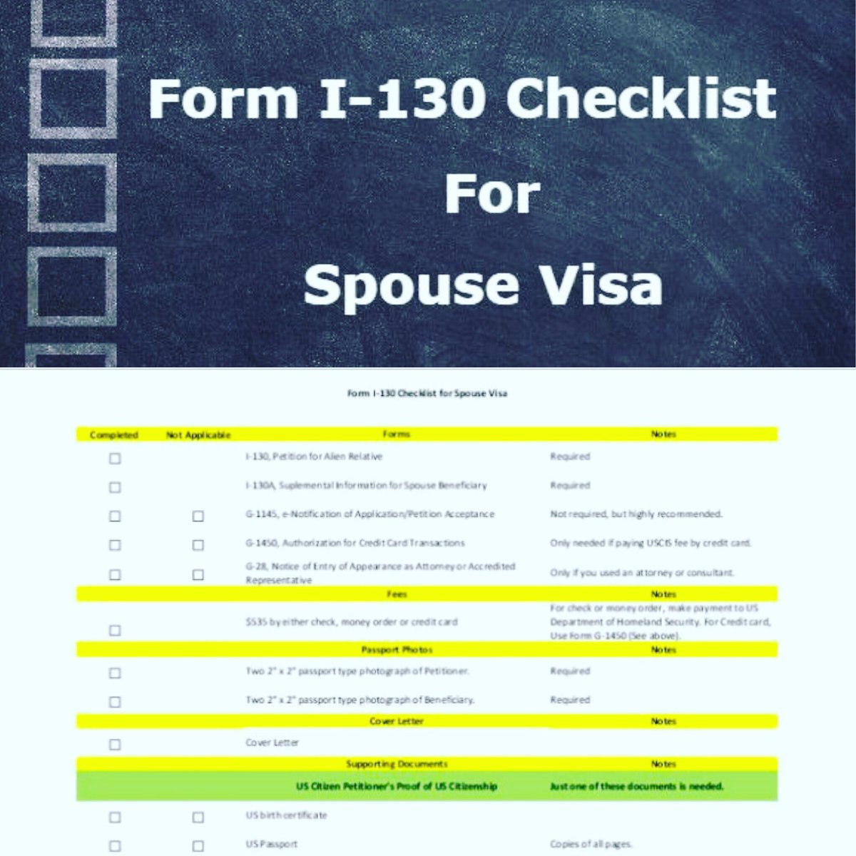 Uscis hashtag on twitter use this checklist as an aid in completing your i 130 petition httplovevisalife201804form i 130 checklist for spouse visa falaconquin