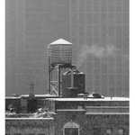 Image for the Tweet beginning: Water tank Manhattan blizzard: day