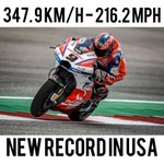 New Top Speed record at @COTA! Rocket @Petrux9! (p.s. @calcrutchlow also did the same but a couple of laps later 😜) @pramacracing @motogp @LCRHondaTeam #America
