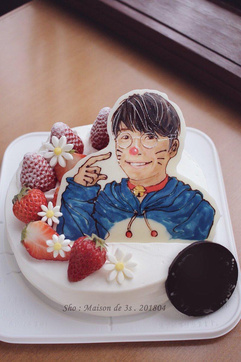 ドラえもんと星野源さんが好きなお嬢さまのお誕生日ケーキ  ↓  混ざっちゃった、...