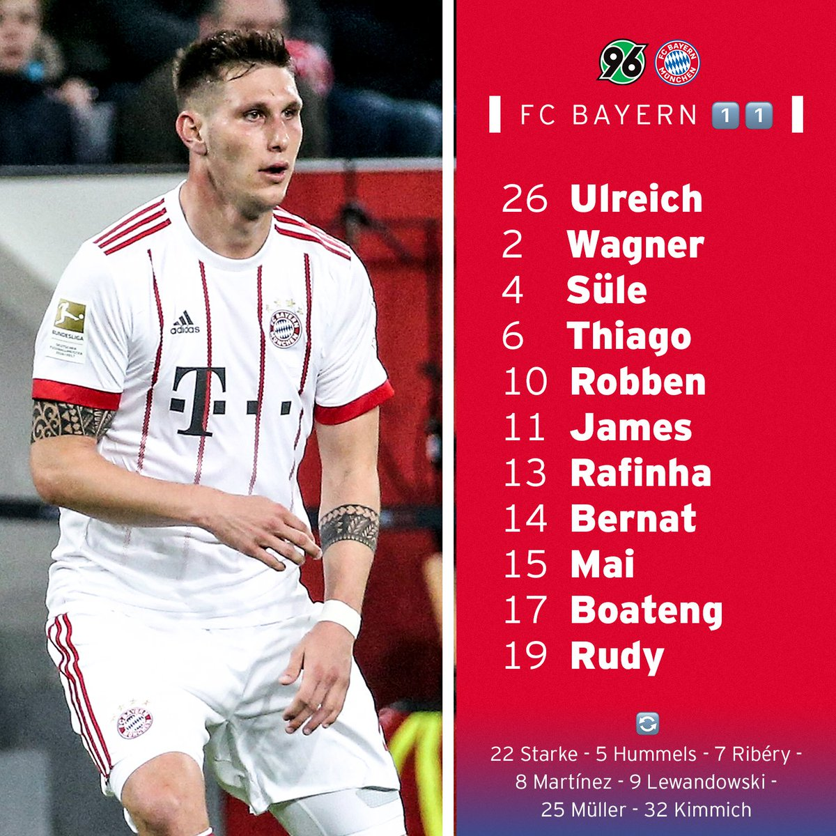 Unsere XI für Hannover! #PACKMAS #H96FCB