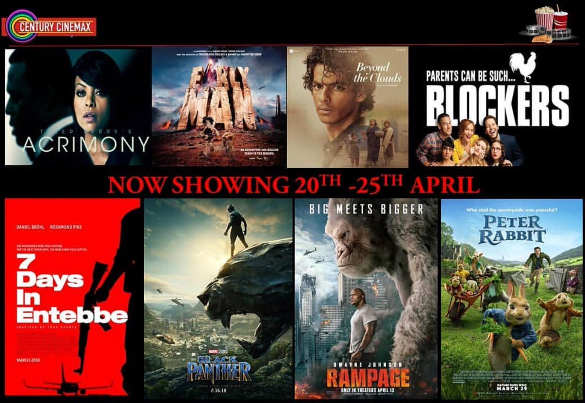 Century Cinemax Acacia On Twitter Centurycinemax Movieschedule From 20 April To 25 April 2018 New Movies Beyondtheclouds Hindi Earlyman Pg Animation Adventure Comedy Blockers R Comedy Acrimony R Thriller Https T Co 8bc8vikyoa