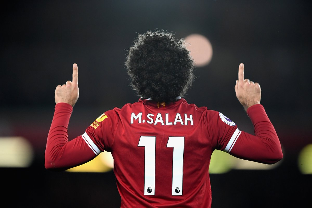 Mohamed Salah has equalled the record for most goals in a single 38-game Premier League season.  1995/96: Alan Shearer (31) 2007/08: Cristiano Ronaldo (31) 2013/14: Luis Suarez (31) 2017/18: Mohamed Salah (31)  Elite company.
