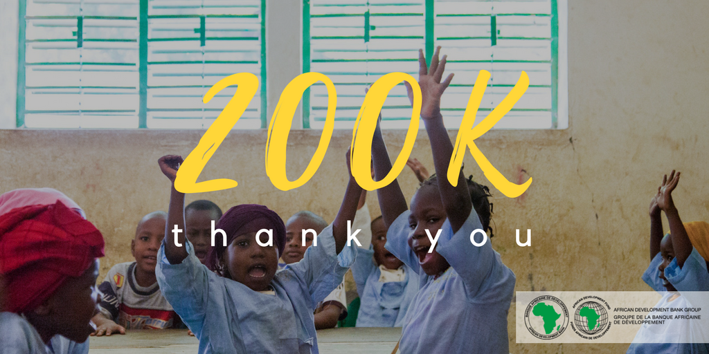 We are now 200,000 people in our Twitter community with the shared mission of making #Africa reach its full potential. Thank you all! 🎉