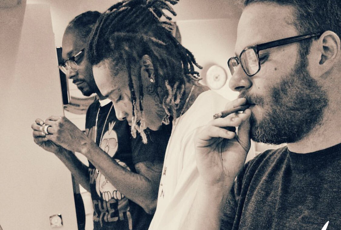 """I know it's not 4/20 anymore but I like this picture. When the three of us smoked there was this unspoken thing like """"we found each other""""."""
