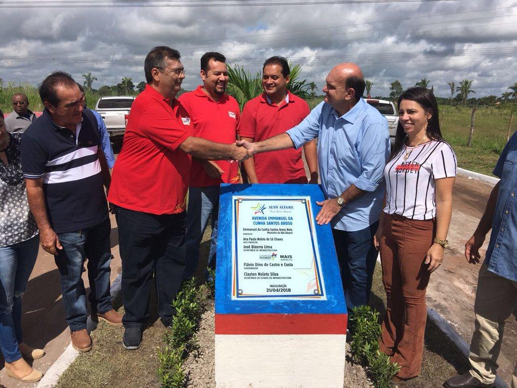 [ALTO ALEGRE DO MARANHÃO] Aconteceu no município a Inauguração  da avenida Emmanuel da Cunha Santos Aroso através do #MaisAsfalto