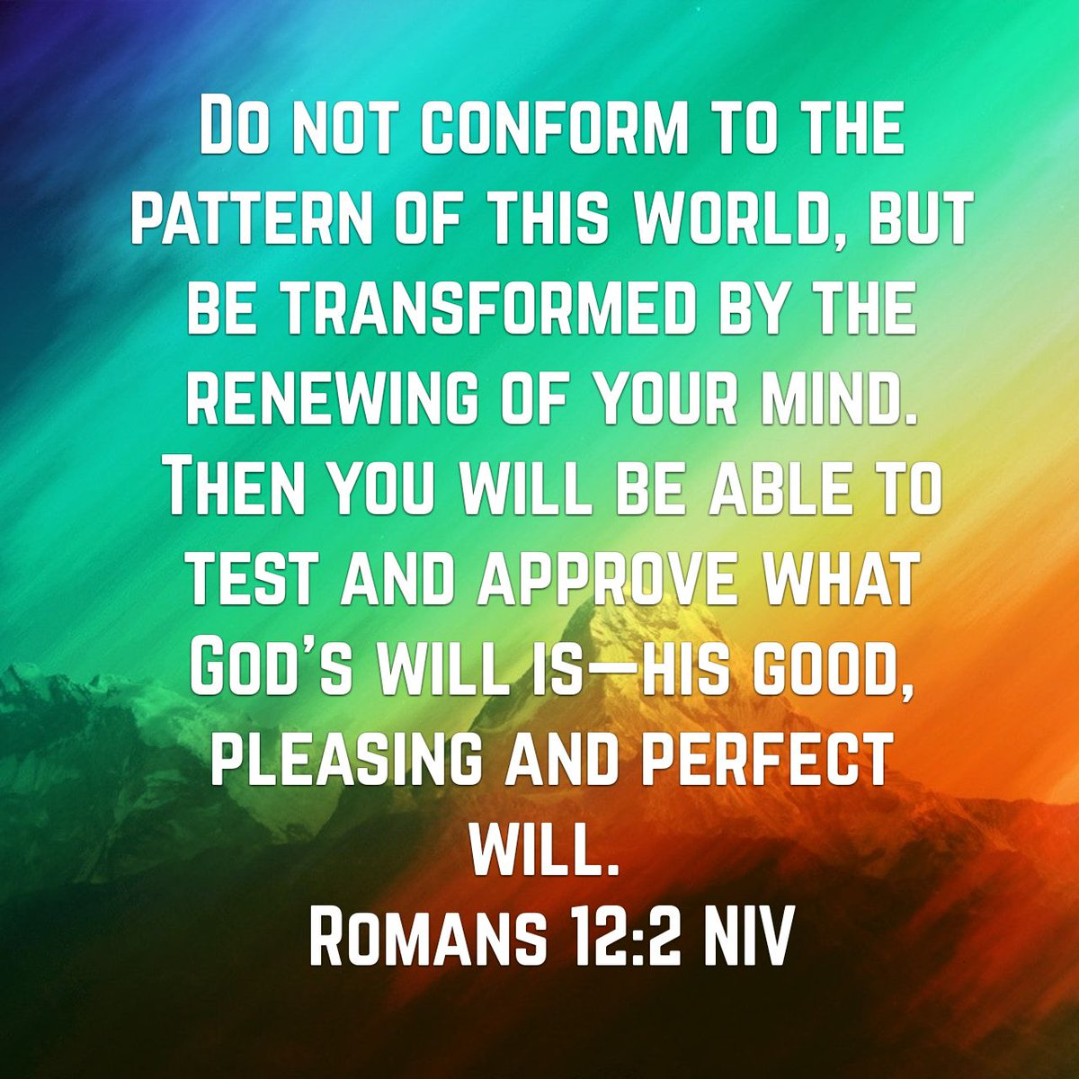 Do Not Conform To The Pattern Of This World Simple Design Ideas