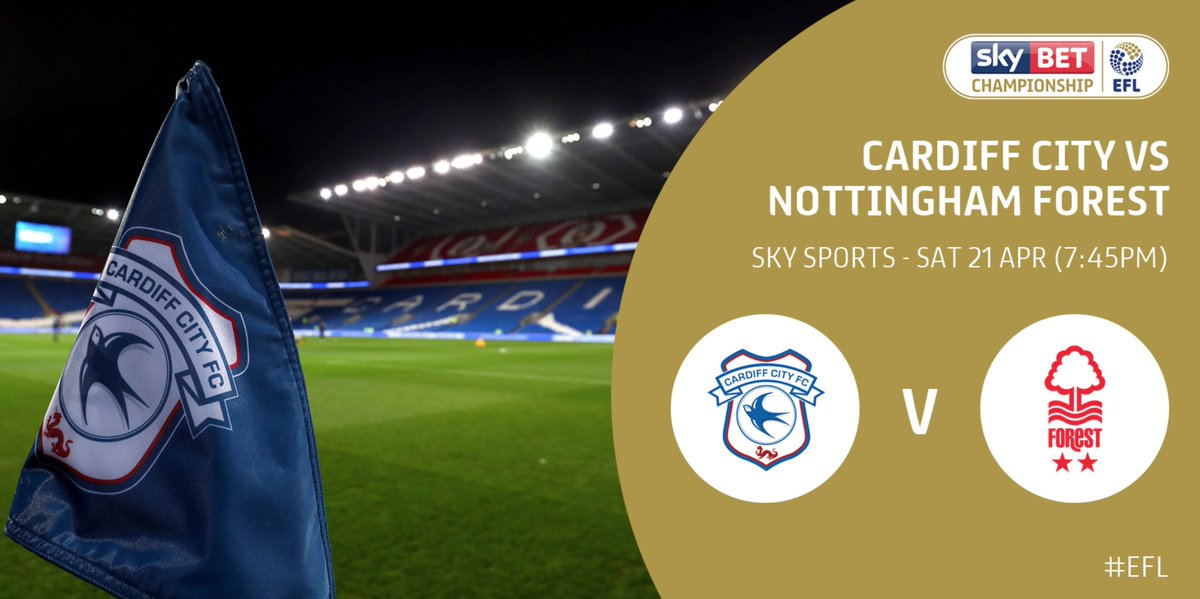 One. More. Game.  @CardiffCityFC v @NFFC - live on @SkyFootball - 19:45.   Predictions? ⚽️
