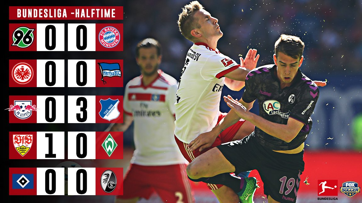 No goals in Hannover on FS1, nor in the big relegation battle on FS2.  👀 Leipzig down BIG at Hoffenheim tho...