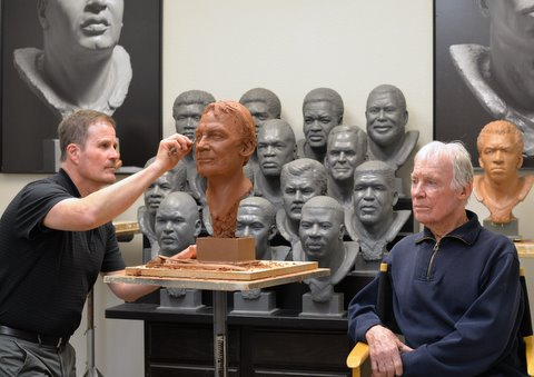Hall of Famer & former  GM @RedskinsBobby Beathard sat for his Bronze Bust yesterday. The final product will be unveiled at the Enshrinement Ceremony this August. #PFHOF18