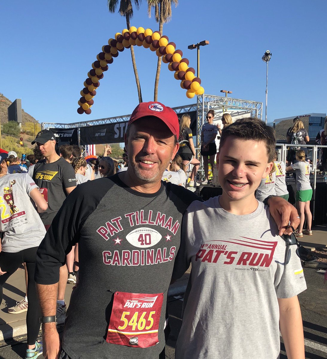 Gorgeous morning in Tempe for Will, me and 28,000 of our closest friends at Pat's Run