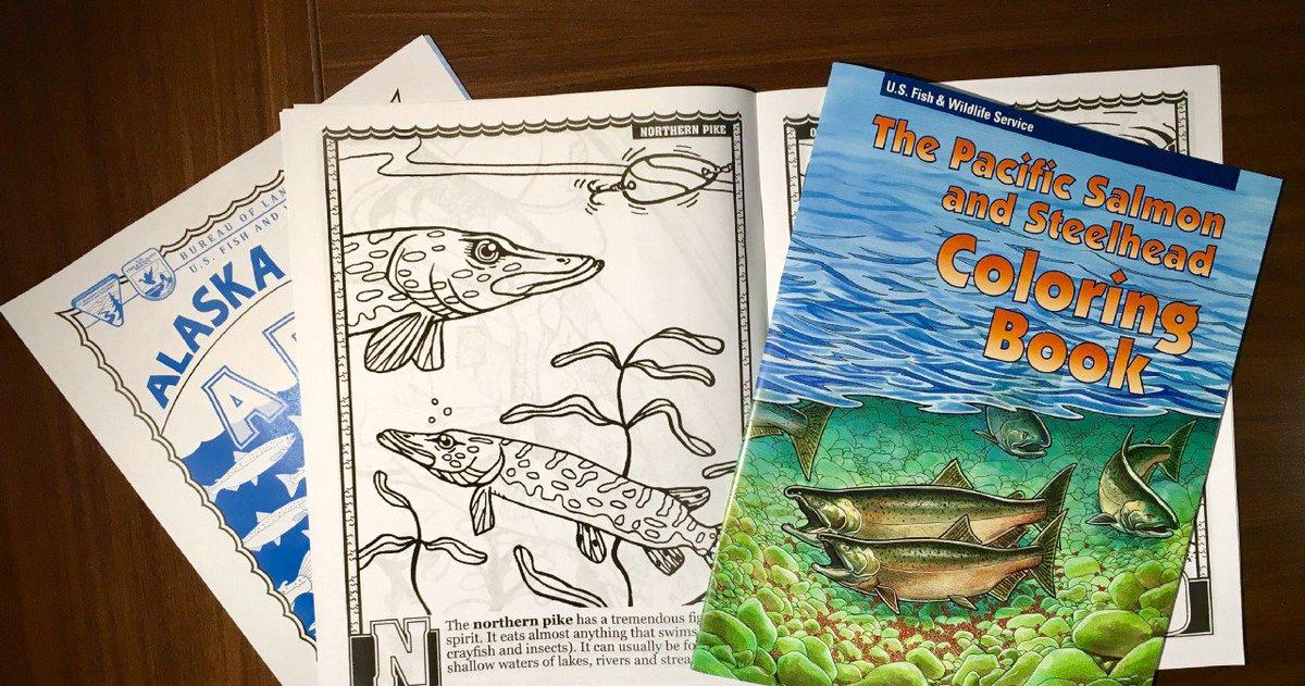 Fun, free, fishy coloring books for a li...