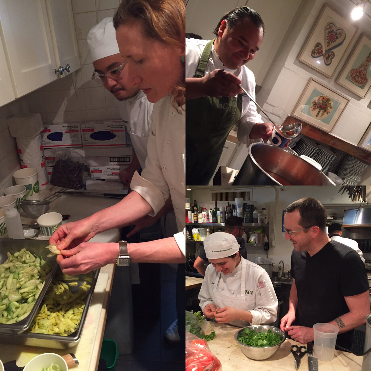 Things are well under way for Chefs Johnny Hernandez, Steve McHugh and Elizabeth Johnson at the James Beard House kitchen. Tonight they will showcase San Antonios 300 years of food history! #visitSA #texnext