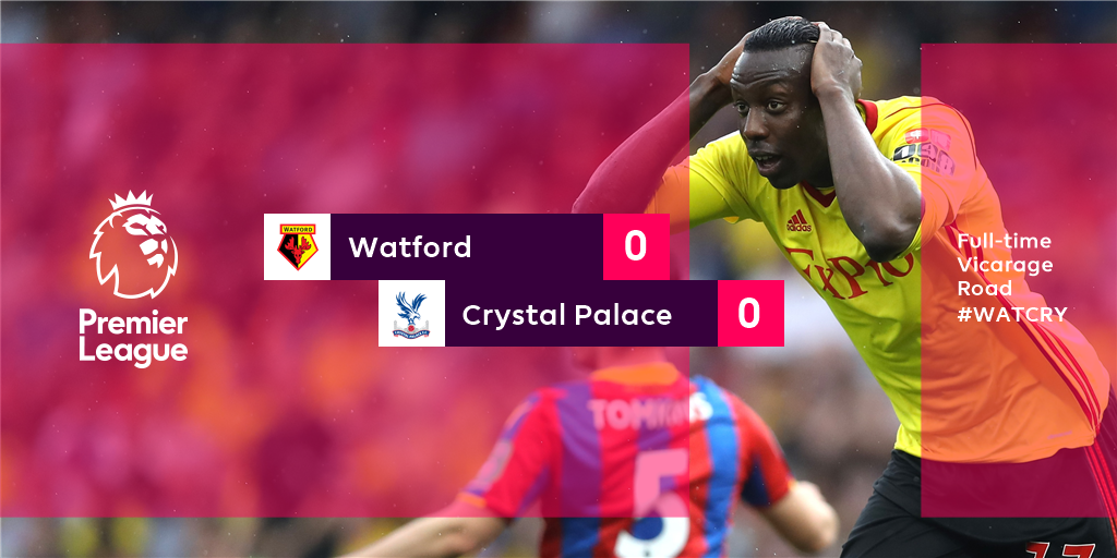 A point leaves @CPFC six clear of the bottom three   #WATCRY