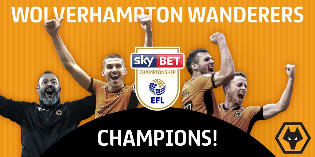 It's official...   @Wolves are going up as CHAMPIONS! 🏆