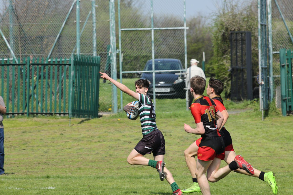 Jo running in his try! One of many that helped Year 9 win the Yorkshire cup. #resilience #rugby