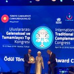 Congrats to Dr. Erdem Yesilada @erdemyesilada - ethnobotanist & ethnopharmacologist - for his achievement award for contributions to research on traditional medicine and endemic plants of Turkey! Pictured here at the ITCM Congress with the First Lady of Turkey. #ethnobotany